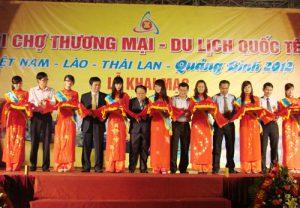 Khai mạc Hội chợ thương mại du lịch quốc tế Việt Nam – Lào – Thái Lan 2012