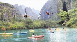 Bay cùng Zipline sông Chày hang Tối