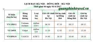 Vé máy bay Hà Nội Đồng Hới siêu rẻ dịp hè
