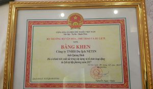 Du lịch Netin nhận bằng khen của Bộ trưởng Bộ Văn hóa Thể thao và Du lịch