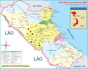 Bản đồ Du lịch Quảng Bình mới nhất