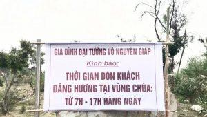 Thời gian viếng mộ Đại tướng Võ Nguyên Giáp tại Vũng Chùa Đảo Yến
