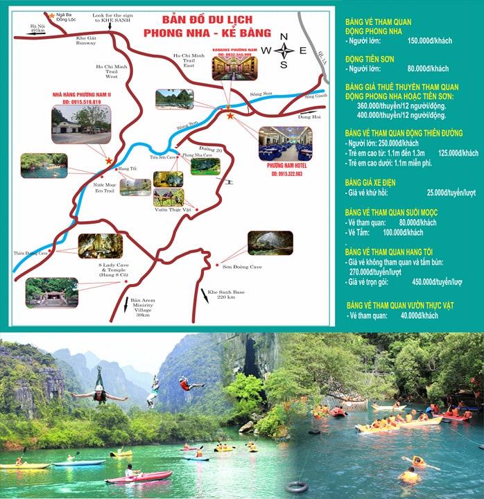 Bản đồ du lịch Phong Nha Kẻ Bàng