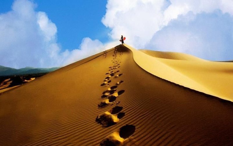chụp ảnh tại đồi cát