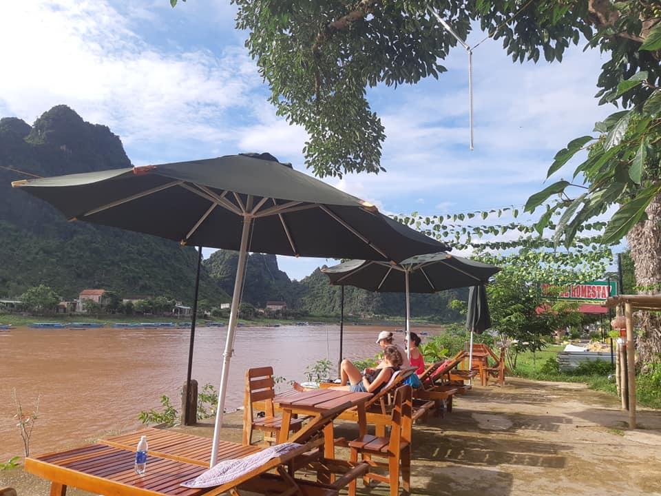 Không gian thư giãn ngoài trời- Nguồn : Diep Le Homestay Phong Nha