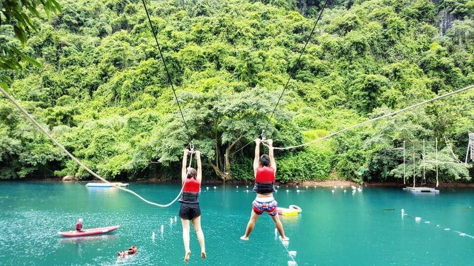 Ziplining on Chay River