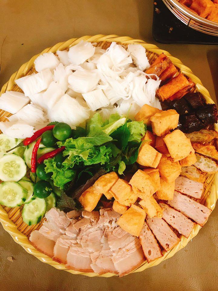 Bún đậu mắm tôm ở Quảng Bình