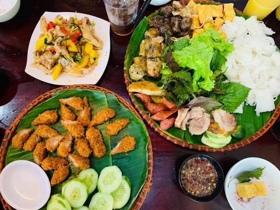 Quán bún đậu mắm tôm ở Quảng Bình